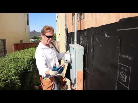 How to waterproof behind an electrical panel