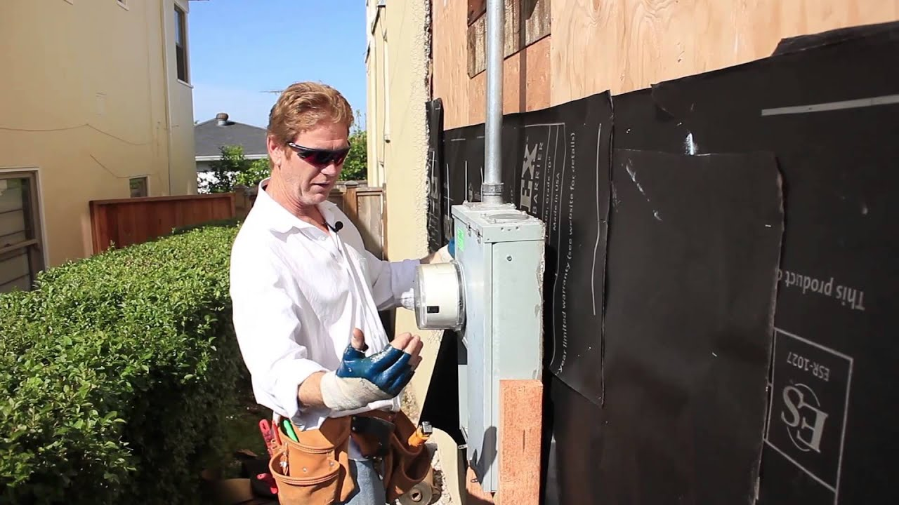 How To Waterproof Behind An Electrical Panel Youtube
