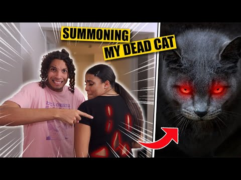 *GONE WRONG* DO NOT TRY TO SUMMON YOUR DEAD CAT AT 3 AM!! (HE SCRATCHED SHYRA!!)