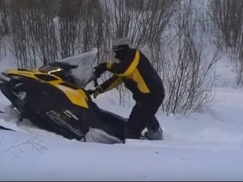 Snowmobile Riding In Deep Snow 2016 Trail Riding Compilation