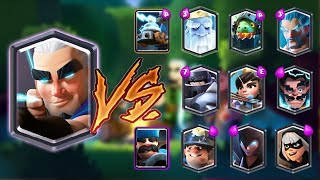 MAGIC ARCHER VS ALL CARDS IN CLASH ROYALE | MAGIC ARCHER 1 ON 1 GAMEPLAY