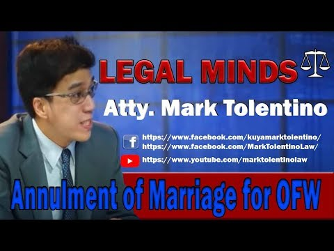 annulment of marriage FOR OFW