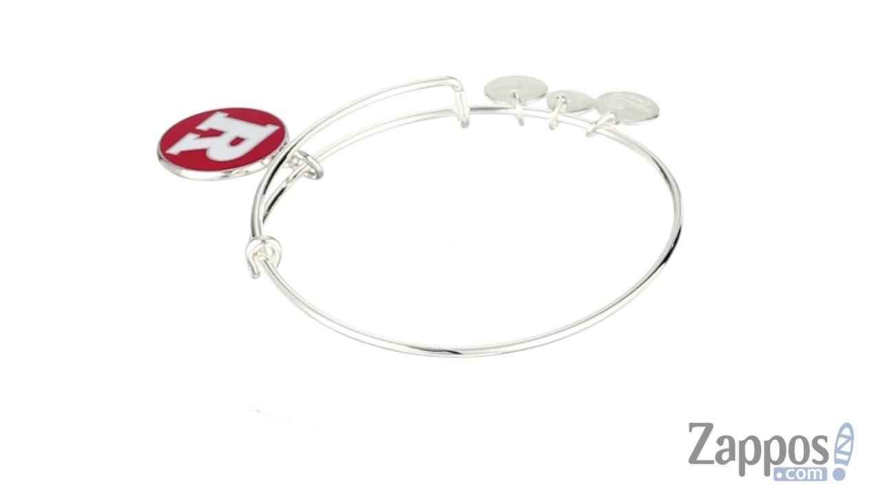 Alex and Ani Rutgers University Logo Expandable Bangle Bracelet