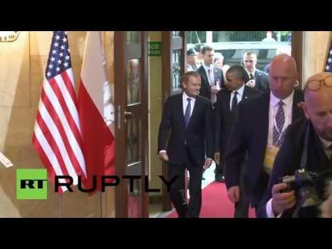 Poland: Obama arrives in Warsaw for talks with Komorowski