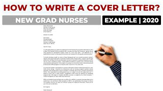How To Write A Cover Letter For New Grad Nursing Jobs Example Youtube
