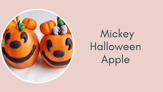 Mickey Halloween Apples