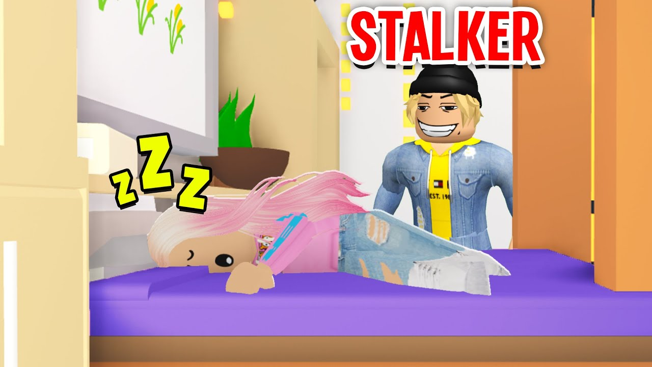 Stalker Broke Into My House In Adopt Me.. I Caught Him SPYING On Me! (Roblox)