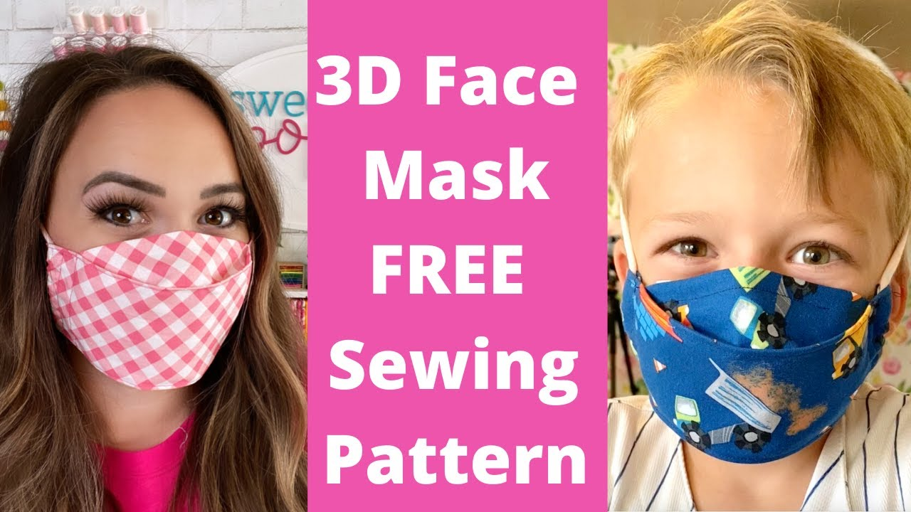 Best 3d Face Mask Easy To Sew Free Face Mask Pattern Sweet Red Poppy Youtube