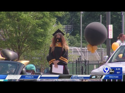 Henninger High School students graduate in drive-thru ceremony