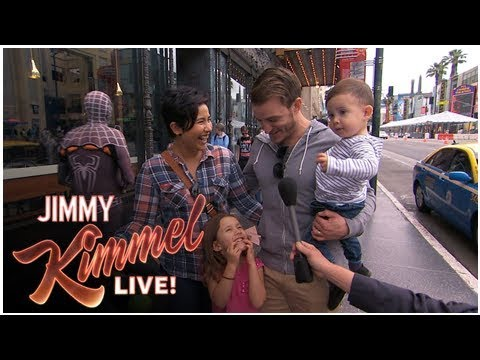 Jimmy Kimmel finds a large crowd on the street still living with his parents