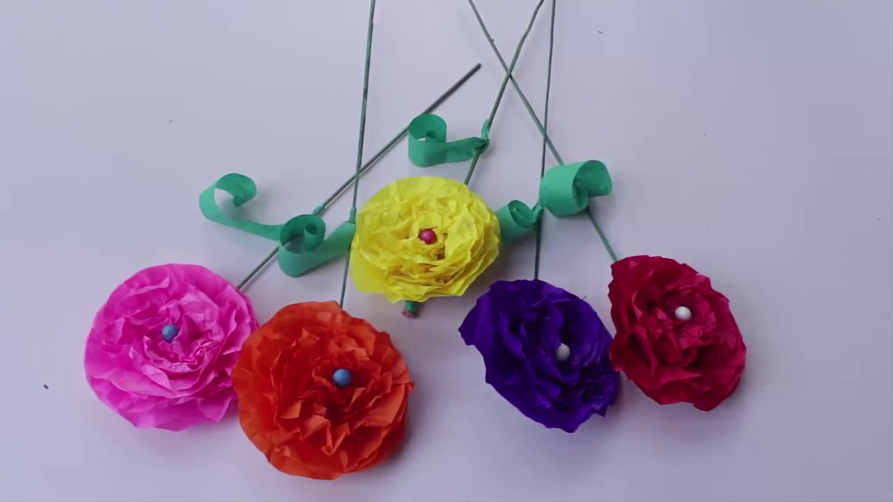 How To Make Paper Flower In Hindi