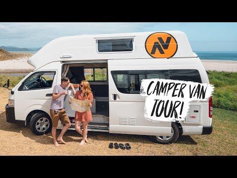 New Zealand CAMPER VAN ROAD TRIP BEGINS! 🇳🇿Van Tour + Hot Water Beach