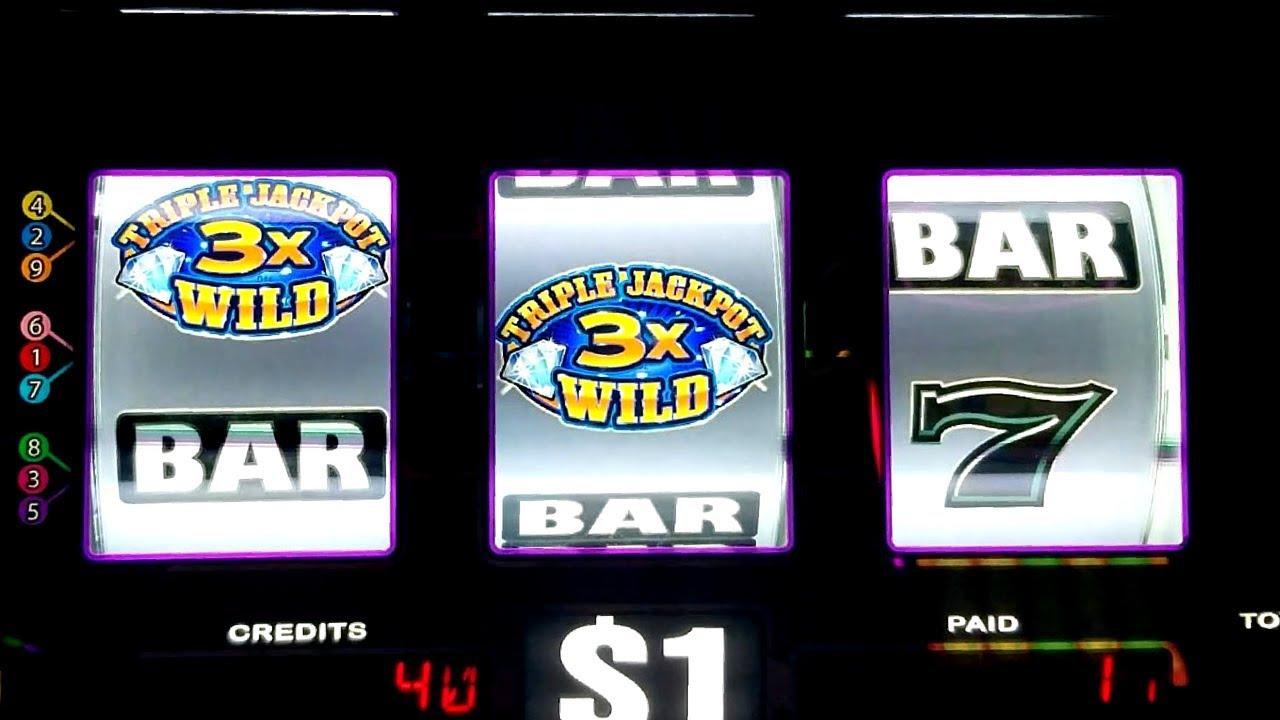 Triple jackpot gems slot machine