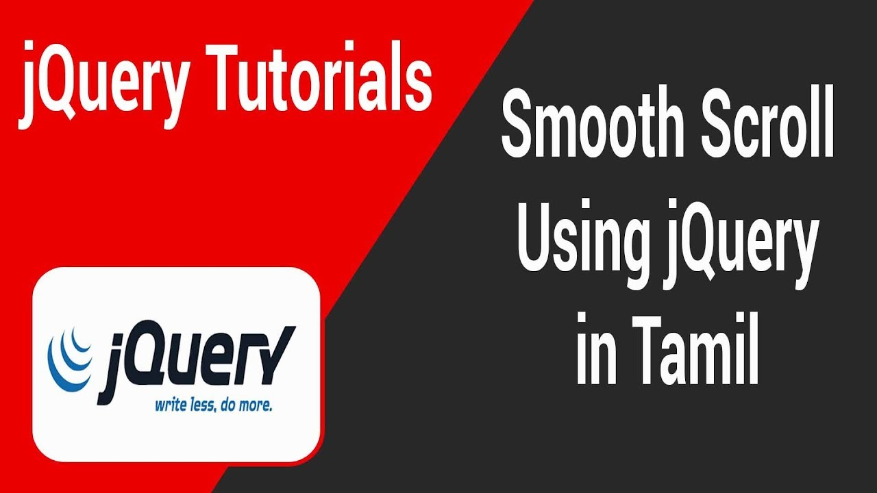 Smooth Scroll Using jQuery in Tamil