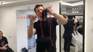 Женская стрижка на длинные волосы Популярная стрижка 2020