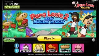 Папа Луи 2: атака гамбургеров | Уровень 1-3 | Прохождение