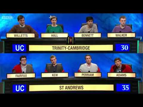 University Challenge  - S44E10  - Trinity, Cambridge vs St  Andrews