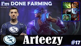 Arteezy - Anti-Mage Safelane | I'm DONE FARMING | Dota 2 Pro MMR Gameplay #17