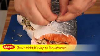 Maggi® Recipe: Salmon With Leek And Wild Rice Stuffing