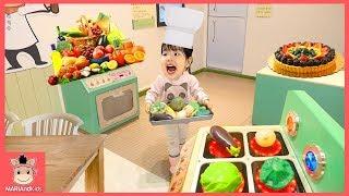 맛있는 음식점 요리사 된 유니! 요리놀이 주방놀이 ♡ 소꿉놀이 장난감 놀이 직업체험 테마파크 놀이공원 kids cook kitchen toy | 말이야와아이들 MariAndKids