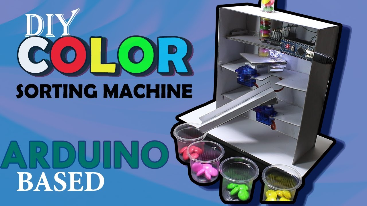 how to make color sorting machine arduino based: 6 steps