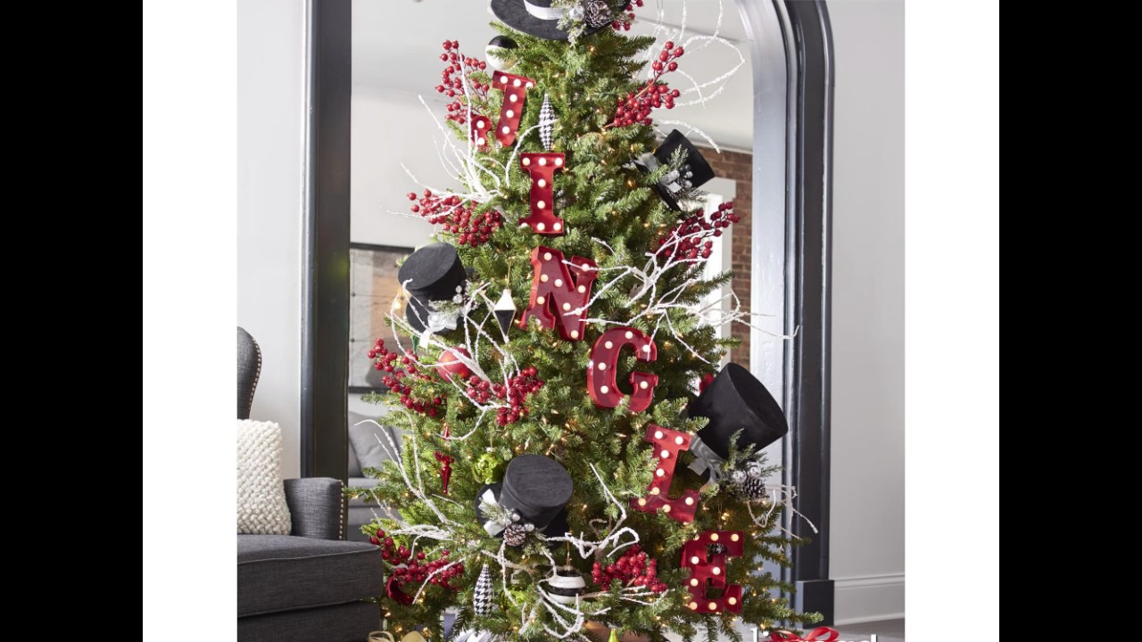 city lights designer christmas tree grandin road - How To Decorate A Designer Christmas Tree