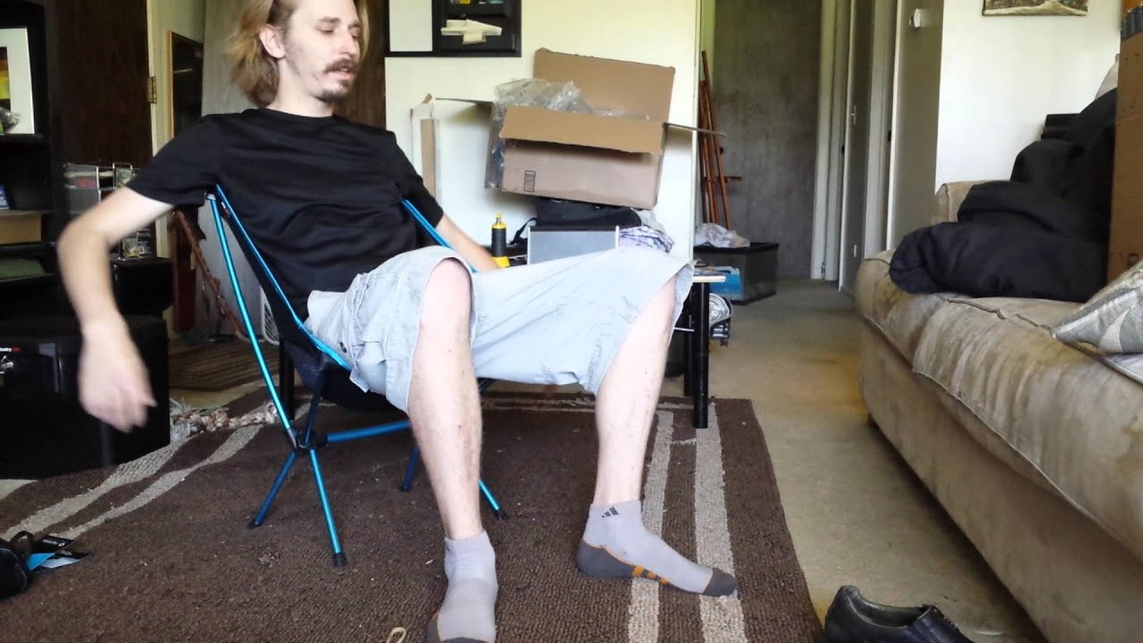 chairs for cheap deck lounge helinox chair one camp review - youtube