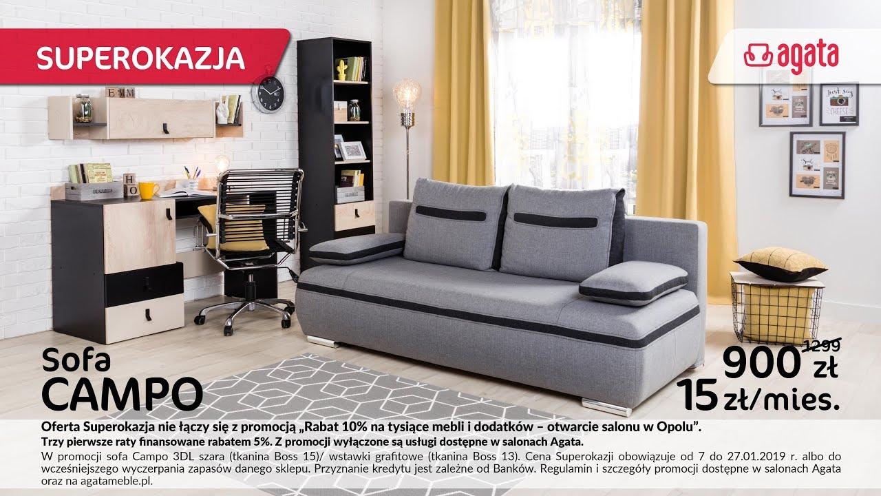 Promocja Sofa Campo Salony Agata Styczeń 2019