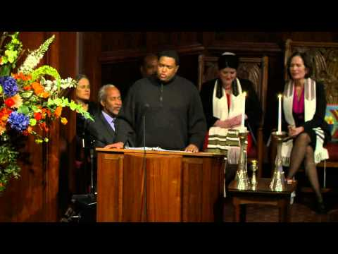 Alonzo Chadwick Sings Precious Lord for Myrlie Evers