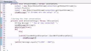 Intermediate Java Tutorial - 43 - whileChatting