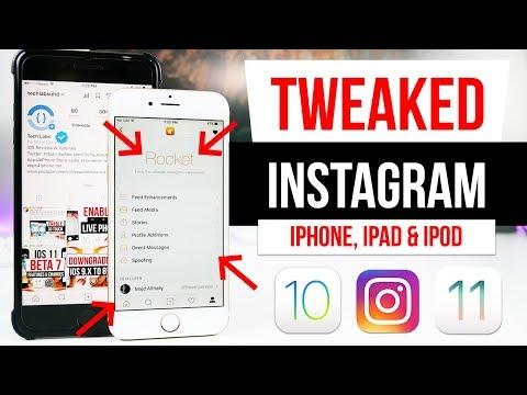 GET TWEAKED Instagram ROCKET IOS 12 1 - 11 4 iPhone, iPad