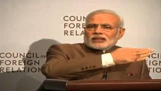 PM Modi addresses the Council on Foreign Relations in New York