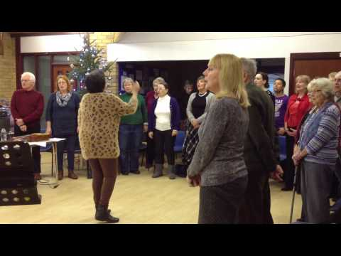 Silent night sung in German, French, and English