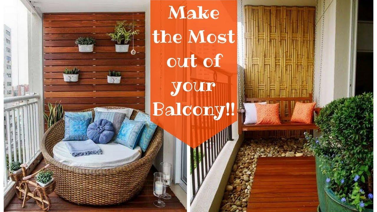 29 Creative Small Balcony Decorating Ideas Plan N Design Youtube