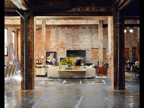 extraordinary new york loft living room | Extraordinary Interior Design : Amazing Warehouse ...