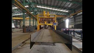horizontal H beam welding machine,I beam welding line, H beam production line