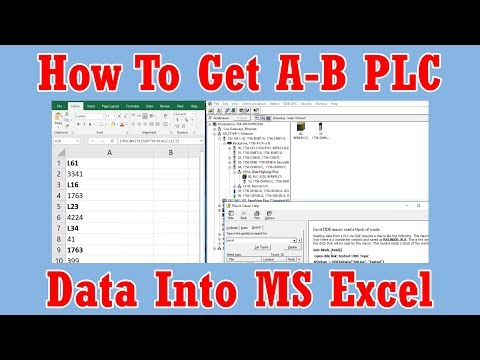How to get A-B PLC data values into MS Excel using RSLinx