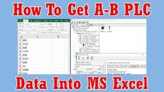 MS A-B PLC veri değerleri nasıl RSLinx kullanarak Excel
