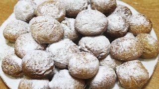 Вкусный десерт - сладкие, воздушные творожные шарики - пончики