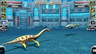 Mauisaurus Vs Mosasaurus - Jurassic Park Builder Aquatic Tournament Android Gameplay HD