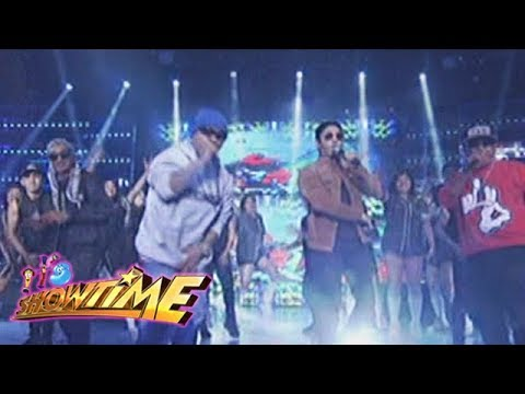 It's Showtime: Coco Martin and Fliptop boys, jam with madlang people