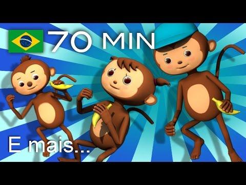 Cinco macaquinhos | E muitas mais Canções de Ninar | 70 min da LittleBabyBum!