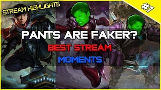 ✔ PANTS ARE FAKER? - Best Stream Highlights #8 | League of Legends