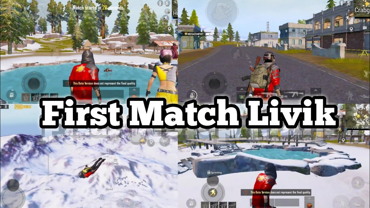 First Match In Livik Map - Pubg Mobile