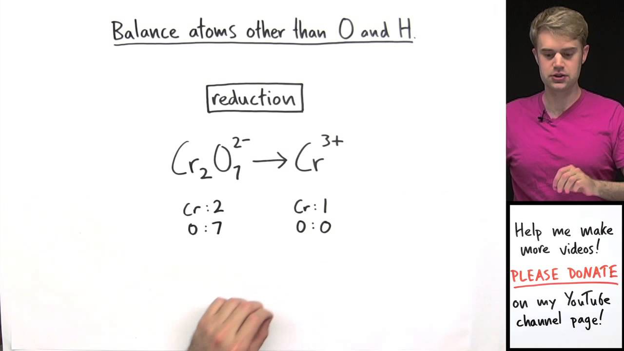 How To Balance Redox Equations In Acidic Solution Example