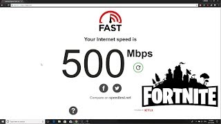How it's like to download a game with 500 mb Internet Speed || Fortnite