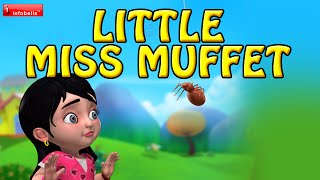 Little Miss Muffet | Nursery Rhymes for Children | Infobells