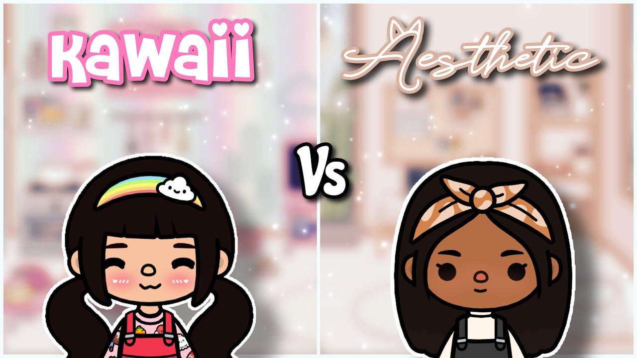 Kawaii VS Aesthetic | Toca life world ♡︎