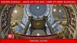 "April 12 2020 Easter Sunday - Mass of the day -""Urbi et Orbi Blessing"" I Pope Francis"