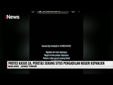 Situs PN Kepajen Diretas Bertuliskan 'Begal Dibela, Pelajar Dipenjara' - INews Sore 21/01